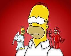 Homer angel y demonio
