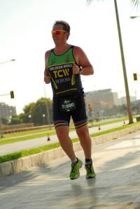 Javi running Skoda