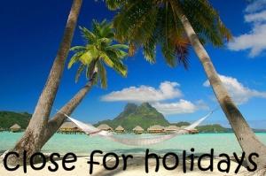cerrado por vacations